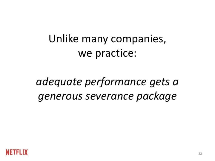 """""""적절한 정도의 성과(adequate performance)를 내는 사람은 해고된다는 것이 우리와 다른 회사와의 차이점입니다."""""""