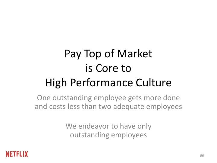 """목표는, 각 직원들에게 """"그 시장에서 그 사람이 가지는 최고의 가치""""에 맞게 보상해주는 것이다."""
