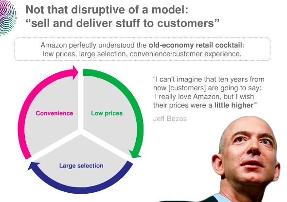 """완전히 혁신적인 생각은 아니다. """"더 싸게, 더 다양하게, 그리고 더 편리하게 물건을 팔고 소비자에게 배달해주자"""""""