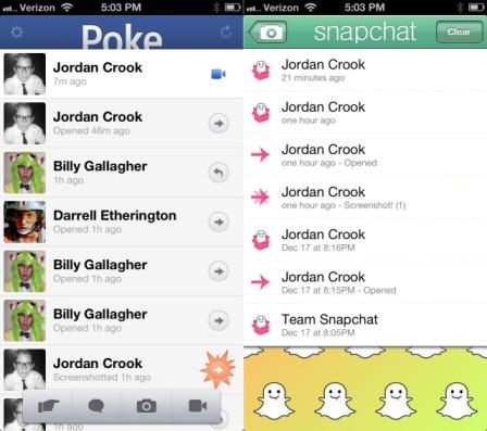 Poke vs. Snapchat