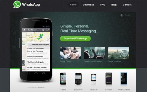 구글, 페이스북 등으로부터 주목을 받고 있는 스마트폰 메신저, 왓츠앱(Whatsapp)