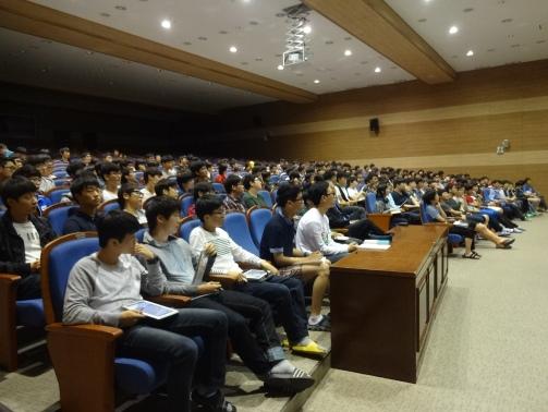 강연에 참석한 대구과학고(영재고) 학생들