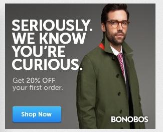"""보노보스(Bonobos)의 리타게팅 광고: """"진짜로, 우리는 당신이 관심을 가지고 있다는 것을 압니다."""""""