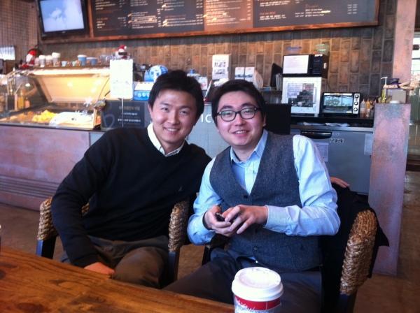 2010년 11월, 서울에서 만났을 때.