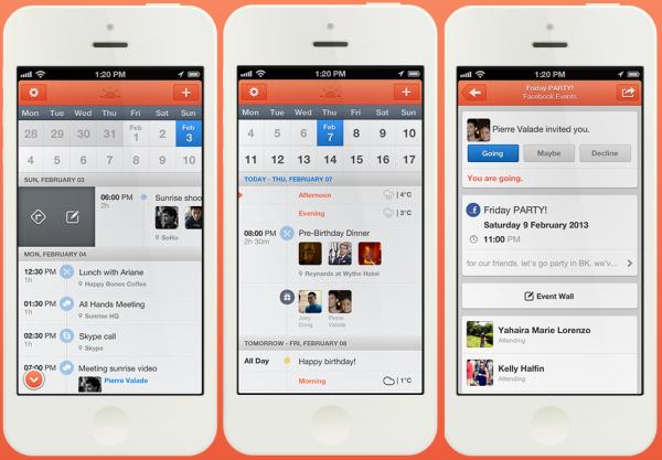 현존하는 가장 좋은 캘린더 앱, 선라이즈 캘린더(Sunrise Calendar)