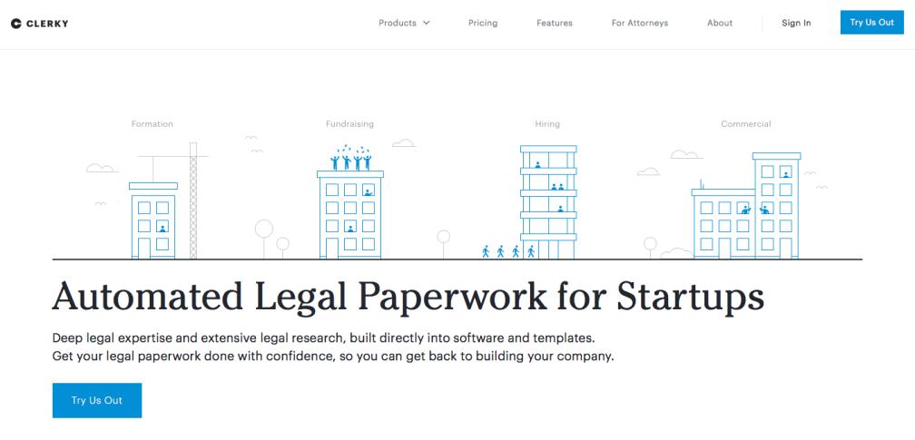 클러키 (Clerky), 변호사 없이 미국 주식 회사 만들기